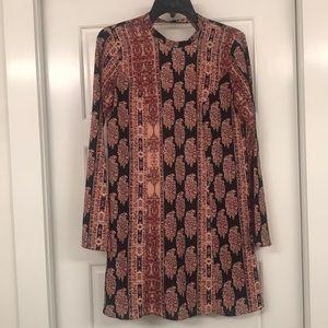 BCBGeneration LONG SLEEVE PRINTED DRESS